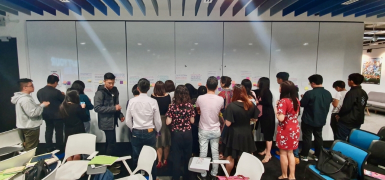 facilitation brand consultancy crowd classroom workshop animagine storify wall